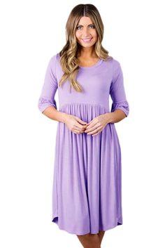 Dearlovers Women Ruffle Sleeve Casual Flared Midi Dress S. Day Dresses, Evening Dresses, Midi Dresses Online, Wedding Dress Trends, Wedding Dresses, Maternity Dresses, Maternity Wear, Classy Dress, Lavender