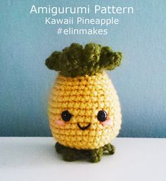 Kawaii Pineapple  : Amigurumi Pattern in PDF format | Etsy