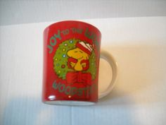 Peanuts Woodstock Joy to the World 15 oz. Christmas Mug @ niftywarehouse.com #NiftyWarehouse #Peanuts #CharlieBrown #Comics #Gifts #Products