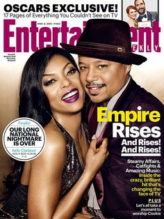 Cookie and Lucious Lyon AKA Taraji P. Henson And Terrence Howard Cover Entertainment Weekly Magazine