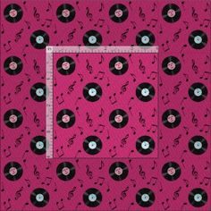 KRW Pink Retro Records Music Fabric by KRWFabric   http://www.zazzle.com/krw_pink_retro_records_music_fabric-256313628988842884?rf=238228937903605568