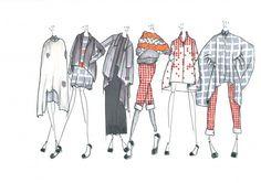 Fashion Sketchbook - fashion drawings; final line up; fashion illustrations; fashion portfolio // Gemma Jackman