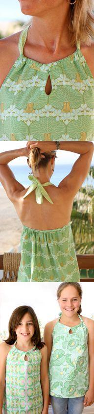Amy Butler Sun Surf Halter - and nice arms too...
