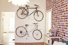 Hang bikes on the wall! Pretty and useful!
