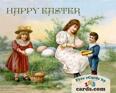 Happy Easter! #happy #celebration #greeting #ecard #card #spring #gifts #care#nostalgic