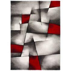 Červeno-sivý koberec Universal Malmo, 120×170cm