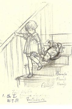 Christopher Robin - E.H. Shepard, 1926 i want a similar sketch style