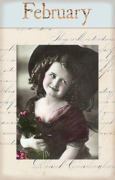 "Victorian ""Calender Girls"" ~ February"