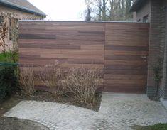 Pluspunt Interieur: poorten Timber Gates, Backyard, Patio, Cladding, Outdoor Furniture, Outdoor Decor, My Dream Home, Pergola, Landscape