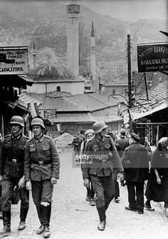 WWII. - 1941. - Croatia / NDH - Sarajevo - nazi u gradu