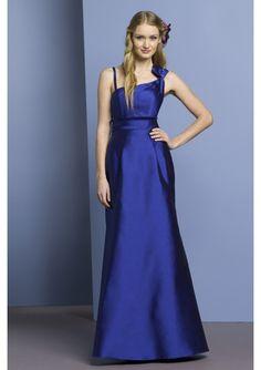 Stylish navy blue Silky Taffeta starps A-Line bridesmaid dress