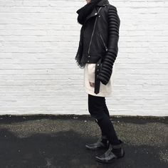 OVRSLO wearing Anine Bing Charlie boots and The Arrivals NYC jacket. #ovrslo #aninebing #thearrivalsnyc