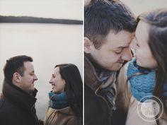 http://dreameyestudio.pl/ #dreameyestudio #couplesession #love #engagementsessionideas #kiss #smile #cold #lake #photosession #bluescarf