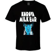 Korova Milk Bar Alex Clockwork Orange cult classic Kubrick film fan t-shirt