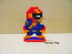Super Mario Maker Captain Falcon perler beads by Perler-Pop