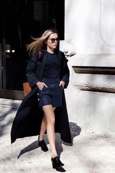 Coat: black, black coat, duster coat, fashion, winter coat, long coat, style, boyish, french girl style - Wheretoget