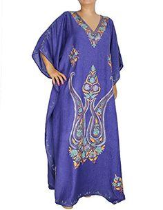Bleu Kaftan Tunique Casual brodé écrasé Robe d'hiver en coton pour les femme ShalinIndia http://www.amazon.fr/dp/B00KW88Z52/ref=cm_sw_r_pi_dp_lxFUvb0W29DTD