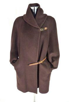 Détails sur Manteau femme BARBARA BUI en laine marron - Taille M   38 FR da44a6a66ad