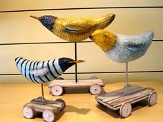 Cute paper mache idea (margaret cogswell - bird sculptures)