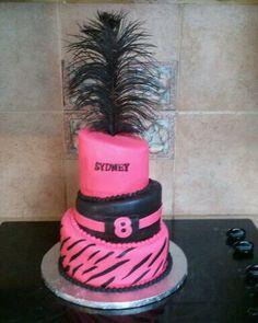 Topsy Turvy 8th b-day cake