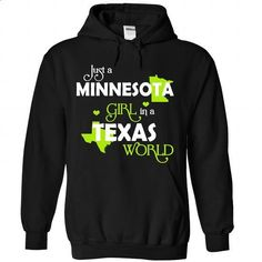 A MINNESOTA-TEXAS girl Lime03 - teeshirt #tee trinken #sweatshirt cutting