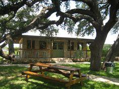 The porch at Salt Lick Cellars near Driftwood, Texas