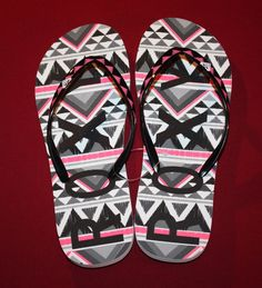 072dffcdf4ba13 ROXY WOMENS SIZE 7 FLIP FLOP THONG SANDALS SHOES BLACK PINK GRAY SOUTHWEST  STYLE  ROXY  FlipFlops  Beach  Cute  Comfy  Sandals