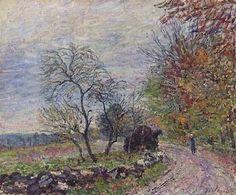 Alfred Sisley, Le long du bois en automne