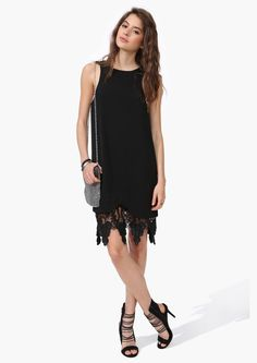 Poppy Crochet Dress in Black   Necessary Clothing