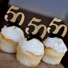 Black and Gold Straws for Party Ships in Business Days. 50th Birthday Cupcakes, 50th Birthday Party Ideas For Men, Moms 50th Birthday, 50th Birthday Party Decorations, 60th Birthday Party, Diy 50th Party Ideas, 50th Birthday Themes, Birthday Celebrations, Birthday Wishes