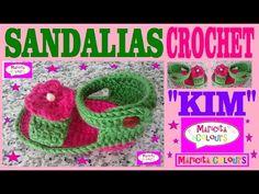 "Sandalias Bebé Crochet Primavera - Verano ""Kim"" (Parte 4)Tutorial por Maricita Colours - YouTube"