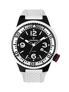 Kienzle Poseidon Mens XL Black Pro Watch  Black  White *** Read more reviews of the product by visiting the link on the image.