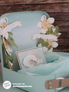Ein Geld-Koffer aus Papier zur Hochzeit