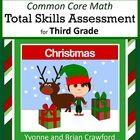 Christmas Common Core Math Skills Assessment (3rd Grade)