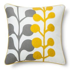 The Room Essentials Embroidered Floral Toss Pillow pops with color and a pattern that can reinvigorate the old and compliment the new when it comes to your décor. Throw pillows are a smart and cost effective way to change the mood of your home.