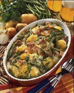 Unser beliebtes Rezept für Bohnen-Kartoffel-Auflauf und mehr als 55.000 weitere kostenlose Rezepte auf LECKER.de.