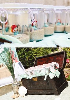 Stylish Ariel Inspired Princess Mermaid Party: The Favors in a treasure chest