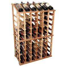 Designer Wine Rack Kit - 6 Column Half Height w/Display - Wine Enthusiast