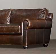 Restoration Hardware's Lancaster Leather Sleeper Sofa:Exceptionally luxurious at nearly four feet deep, Lancaster features ultra-comfortable cushions and is available in rich, premium leathers..