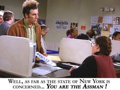 Seinfeld quote - Kramer gets the wrong (assman) license plates, 'The Fusilli Jerry' Best Tv Shows, Best Shows Ever, Favorite Tv Shows, Seinfeld Festivus, Seinfeld Episodes, Late Night Comedy, Seinfeld Quotes, Relaxation Station, Laugh Track