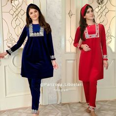 Velvet Dress Designs, Kurta Neck Design, Eye Makeup Steps, Designer Dresses, Cold Shoulder Dress, Women, Fashion, Babydoll Sheep, Traditional