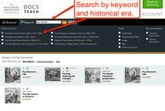 Free Technology for Teachers: Create Your Own Interactive Primary Source Document Activities Source Documents, Primary Sources, Technology Integration, Charts And Graphs, National Archives, Create Your Own, Teaching, Activities, Core