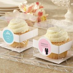 Personalized Clear Cupcake Boxes by Beau-coup