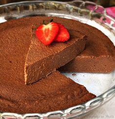 Tarta de chocolate ligera {microondas}