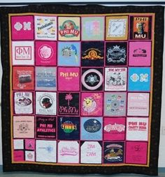 What you should do with your #sorority #greek t-shirts!!!  #quilt