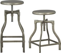 Turner Barstools  | Crate and Barrel -$199 for 1 counterstool. Are $60 ea. at JCP, assembly req'd.  Assembly req'd for C version? Msmts?