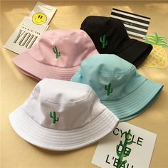 Aliexpress.com : Buy hat women harajuku  2016 korean summer style  bucket hat hip hop cute new embroidery cactus pots hats for men sun kawaii lovers from Reliable hat suppliers on E-leven