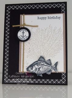 Birthday card made with the By the Tide stamp set from Stampin Up by Kathleen Wingerson    www.kathleenstamps.com
