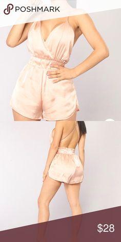 adebacd6694 Satin romper! Summer satin nude romper from fashion nova never worn!  Fashion Nova Other