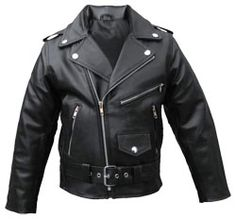 motorcycle zipper kids leather jacket
